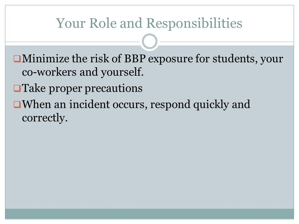 Your Role and Responsibilities