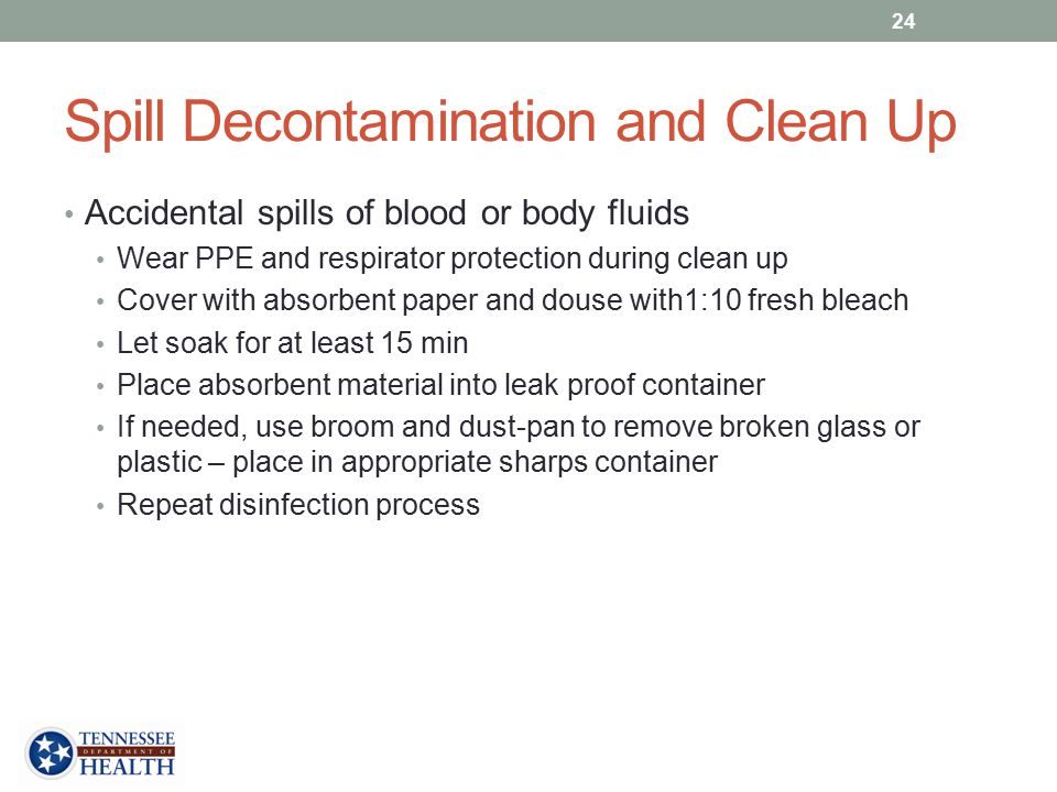 Spill Decontamination and Clean Up