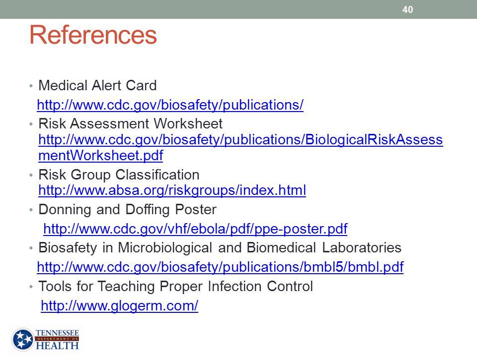 References Medical Alert Card
