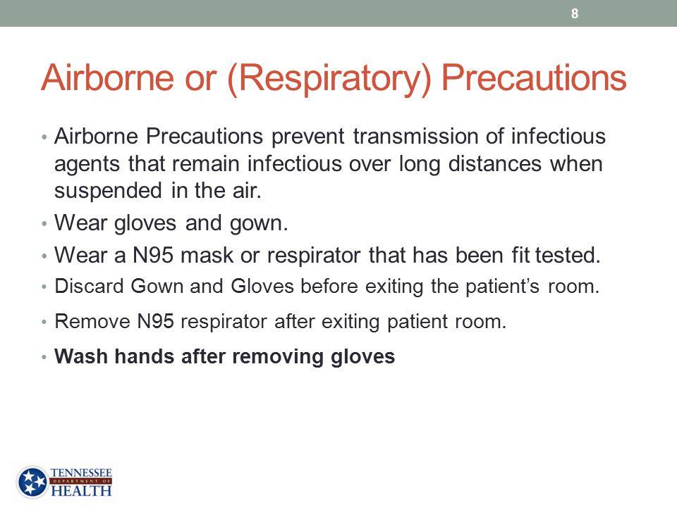 Airborne or (Respiratory) Precautions
