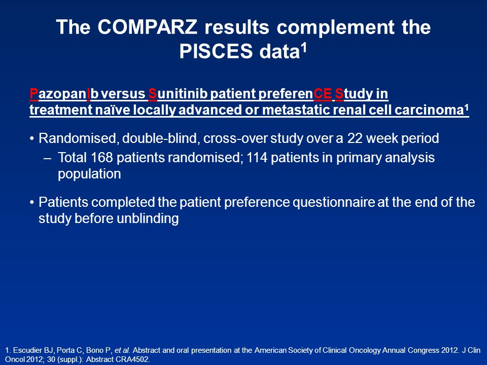 The COMPARZ results complement the PISCES data1