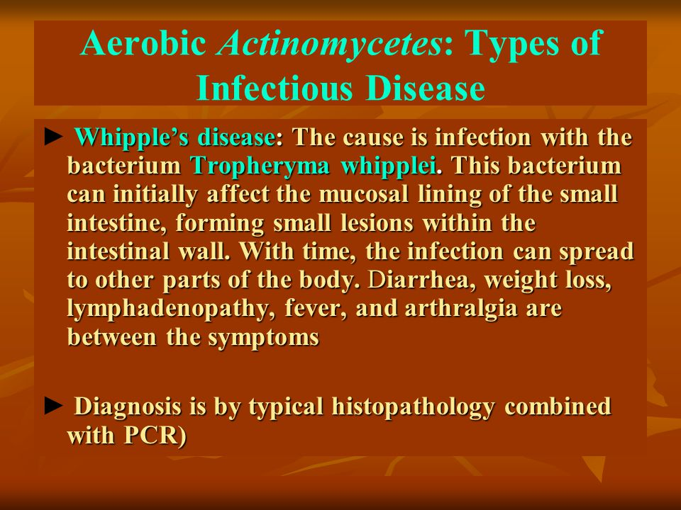 Aerobic Actinomycetes: Types of Infectious Disease