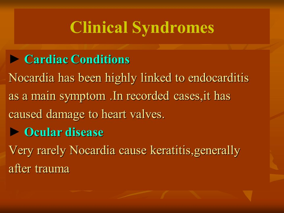 Clinical Syndromes ► Cardiac Conditions