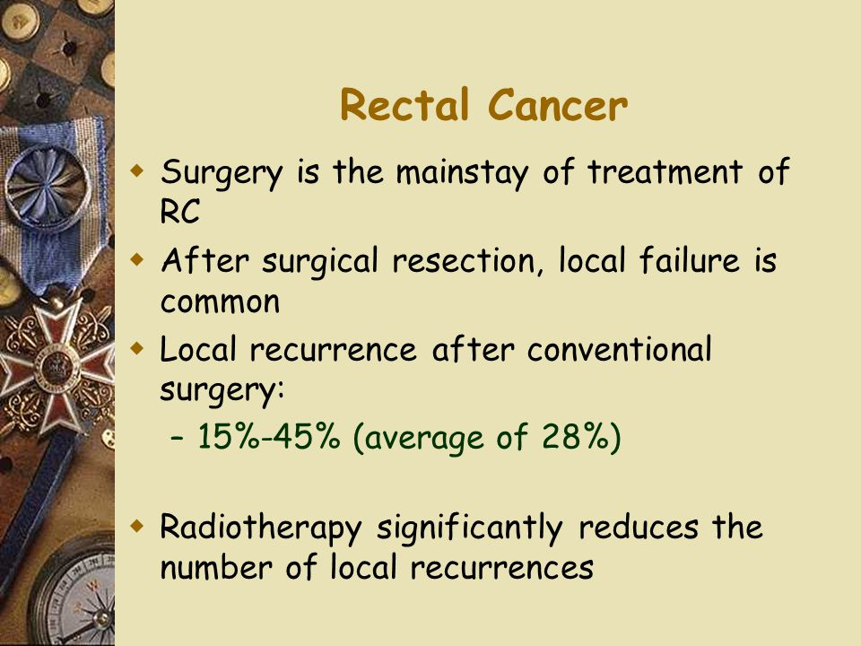 Rectal Cancer Surgery is the mainstay of treatment of RC