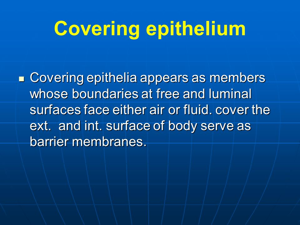 Covering epithelium