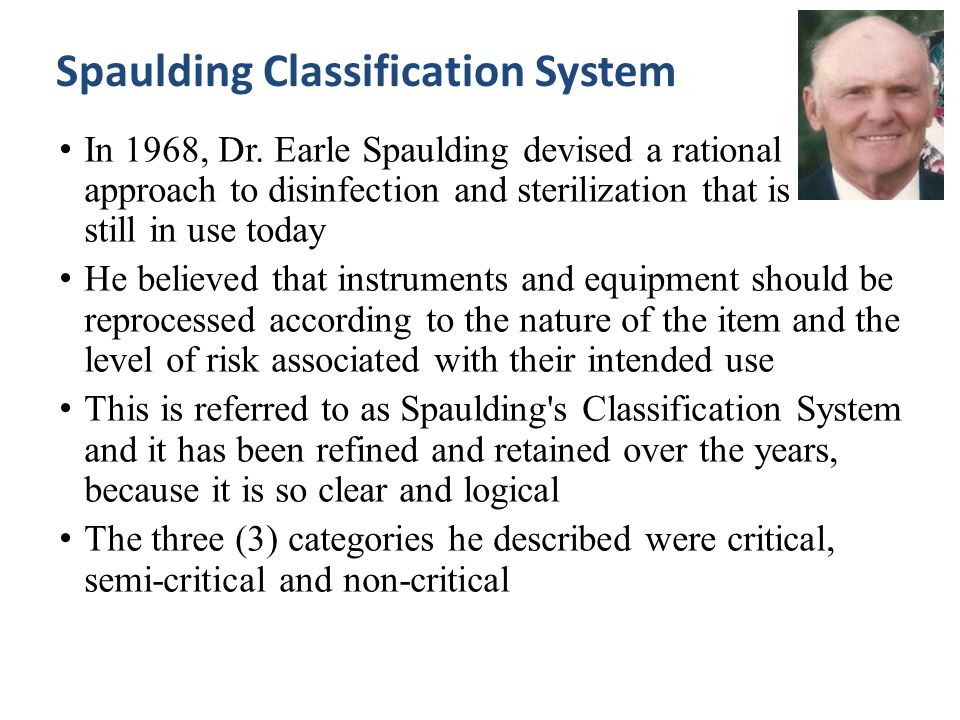 Spaulding Classification System