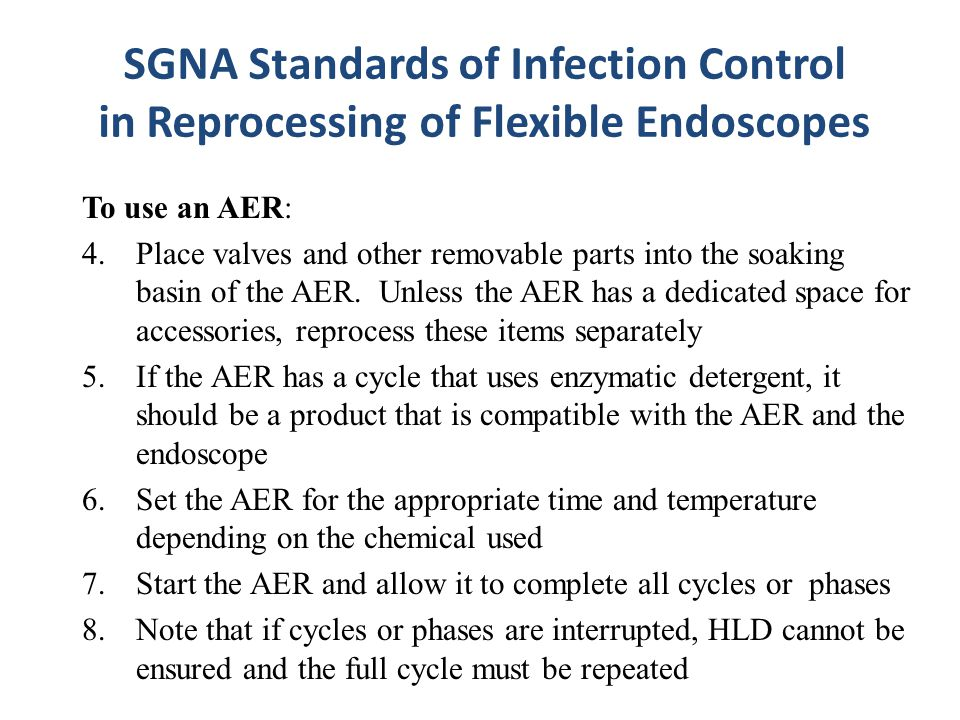 SGNA Standards of Infection Control in Reprocessing of Flexible Endoscopes