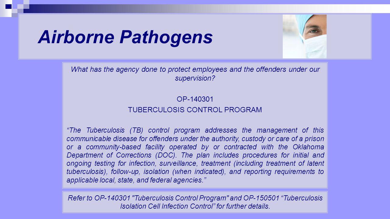 TUBERCULOSIS CONTROL PROGRAM