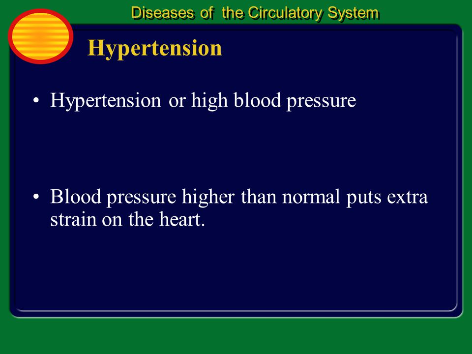 Hypertension Hypertension or high blood pressure