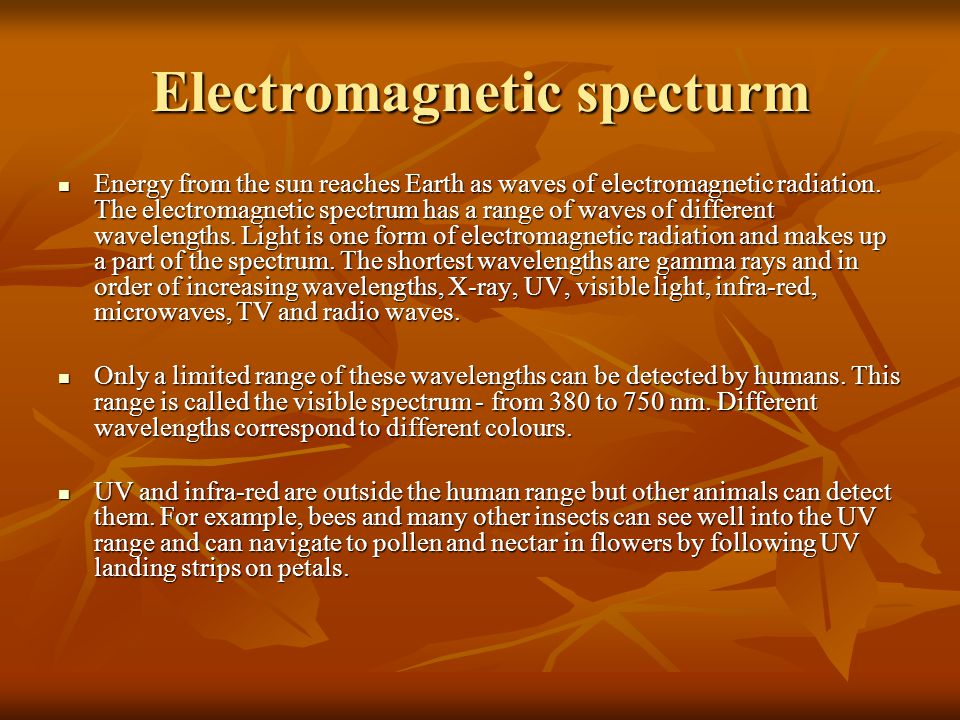 Electromagnetic specturm