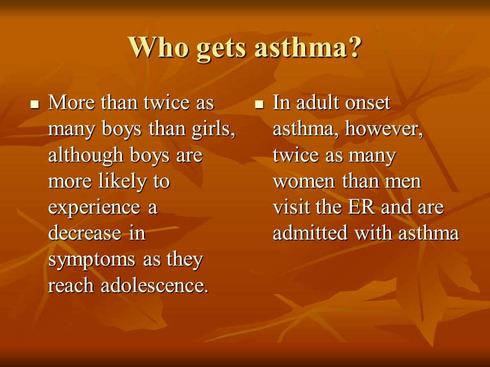 adult asthma more common in women