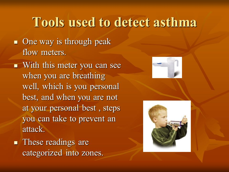 Tools used to detect asthma