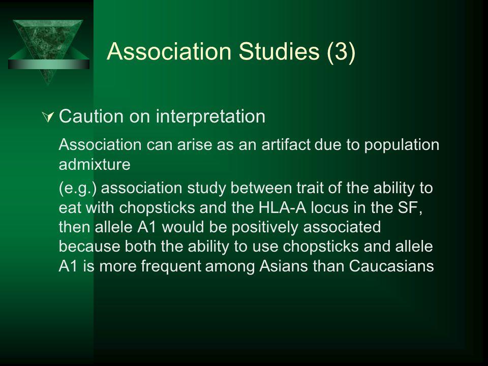 Association Studies (3)