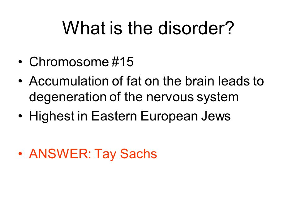 What is the disorder Chromosome #15