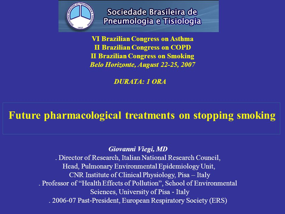 Future pharmacological treatments on stopping smoking