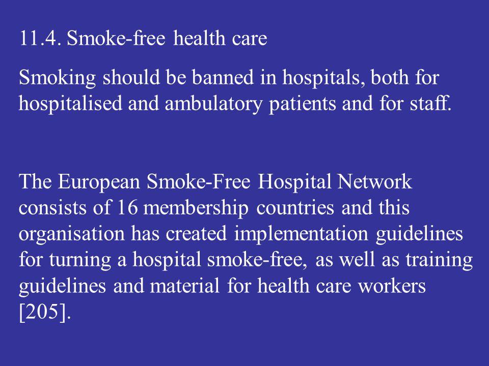 11.4. Smoke-free health care