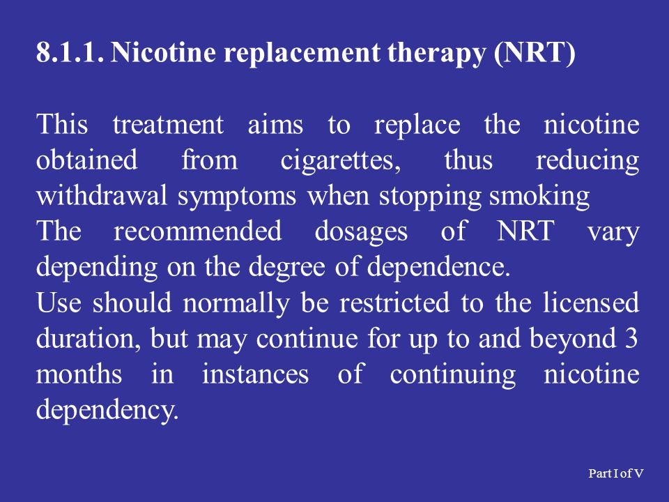8.1.1. Nicotine replacement therapy (NRT)
