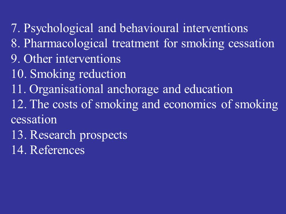7. Psychological and behavioural interventions