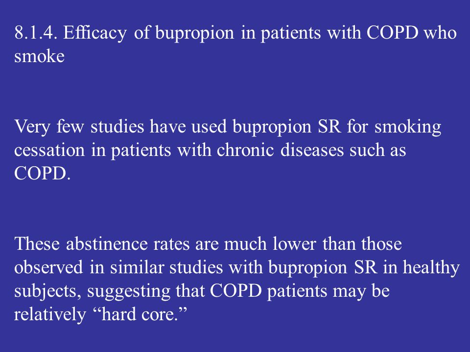 8.1.4. Efficacy of bupropion in patients with COPD who smoke