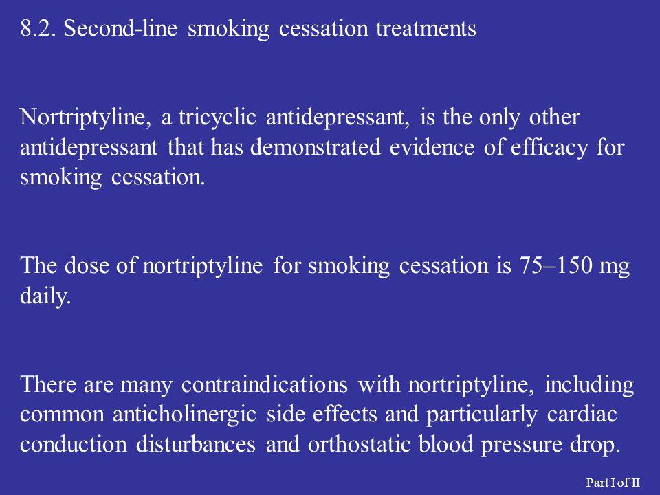 8.2. Second-line smoking cessation treatments