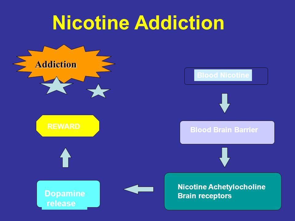 Nicotine Addiction Addiction Dopamine release Blood Nicotine REWARD