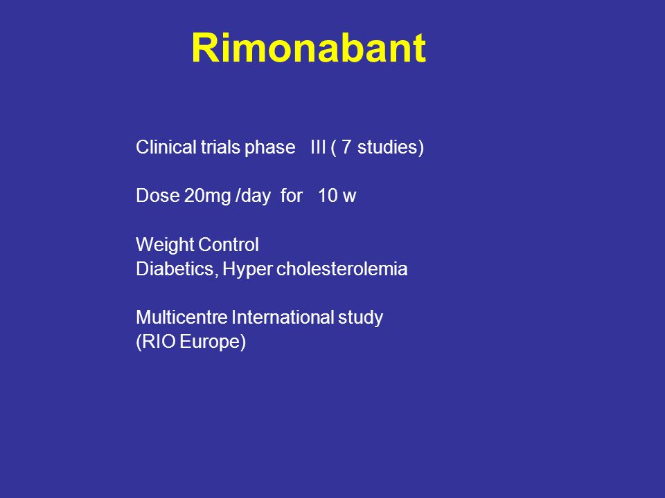 Rimonabant Clinical trials phase ΙΙΙ ( 7 studies)