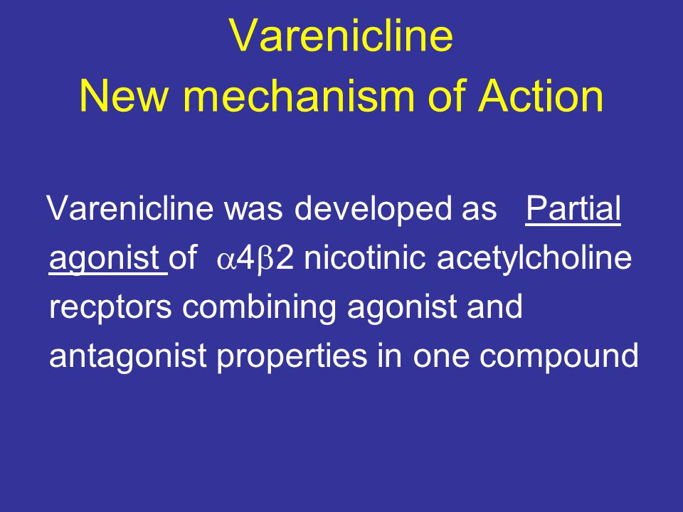 Varenicline New mechanism of Action