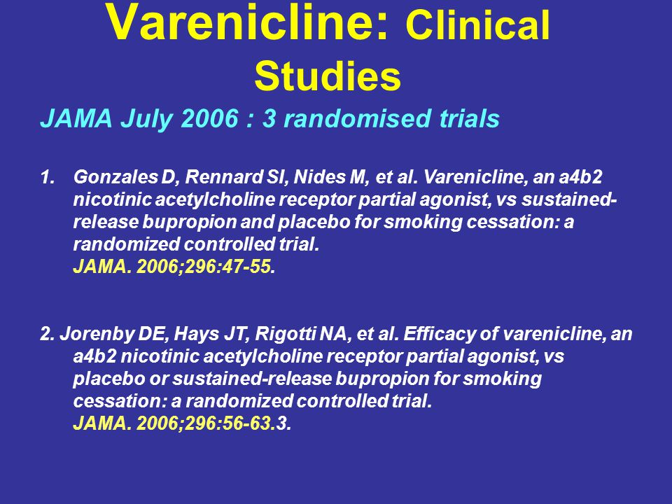 Varenicline: Clinical Studies