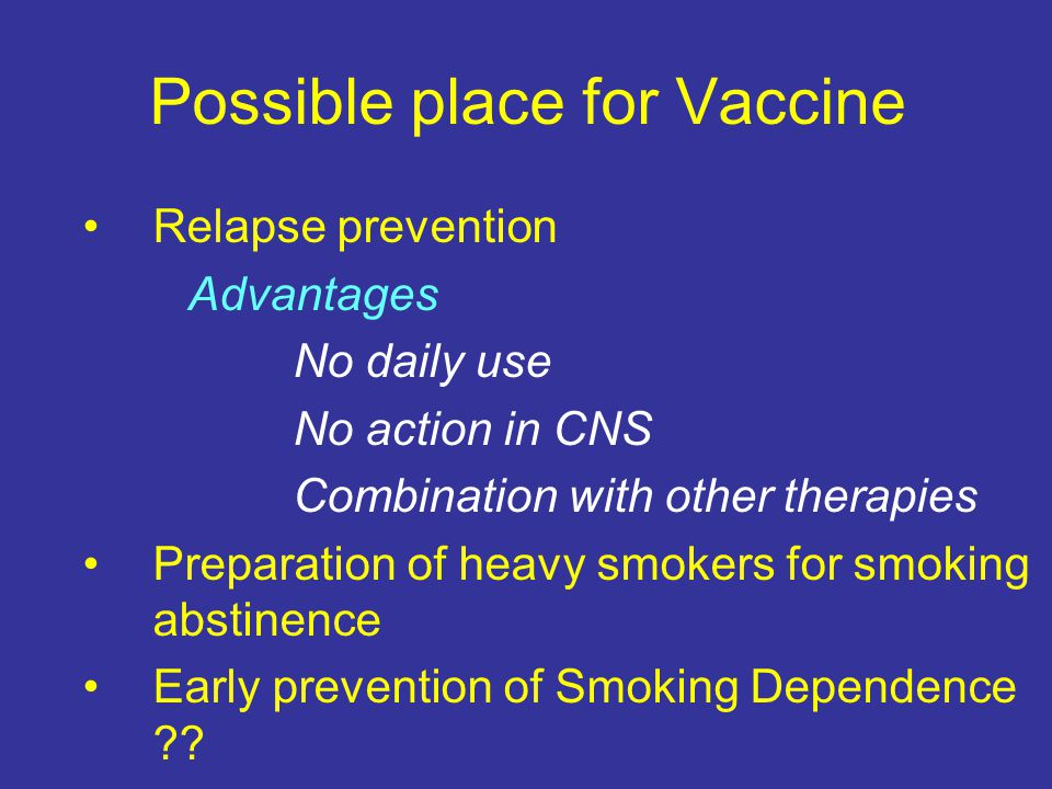 Possible place for Vaccine