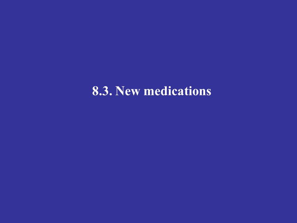 8.3. New medications