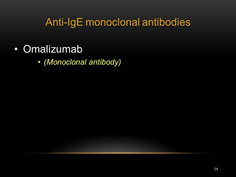 Anti-IgE monoclonal antibodies