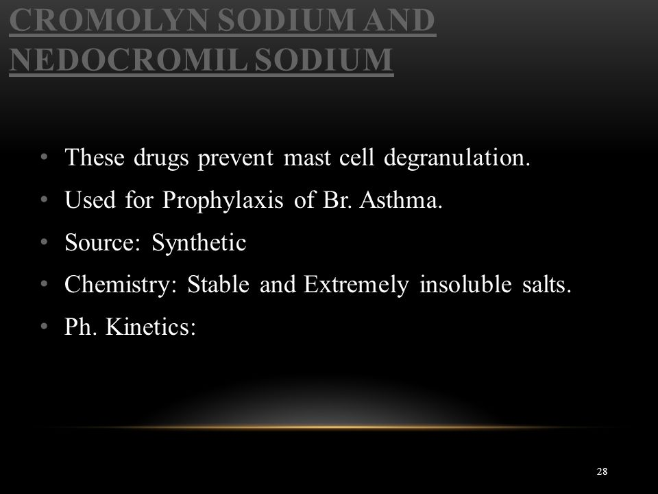 Cromolyn Sodium and Nedocromil Sodium