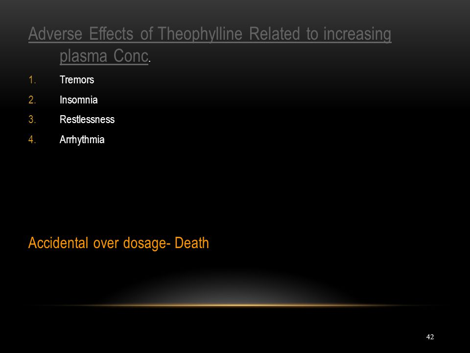 Adverse Effects of Theophylline Related to increasing plasma Conc.