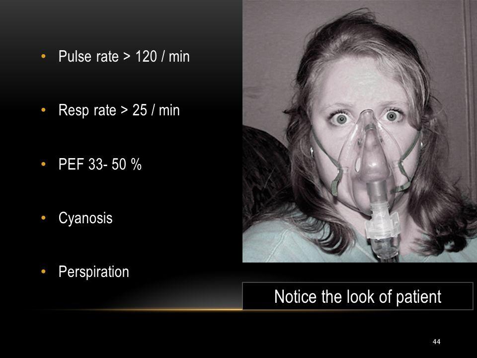 Notice the look of patient