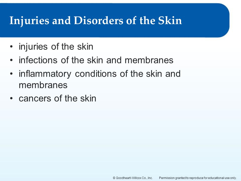 Injuries and Disorders of the Skin