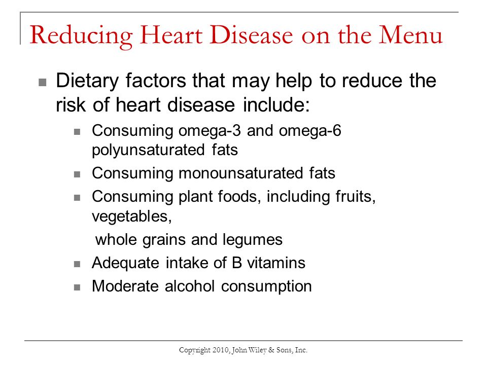 Reducing Heart Disease on the Menu