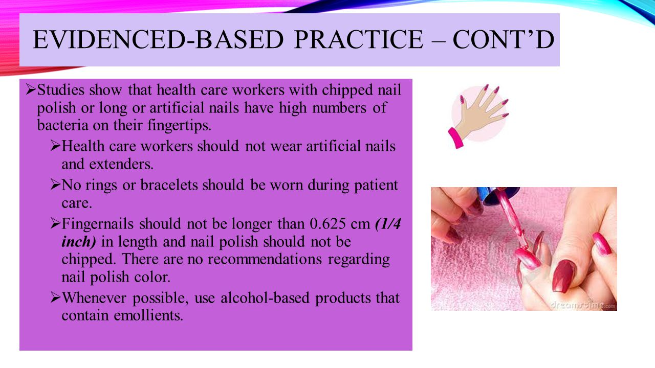 EVIDENCED-BASED PRACTICE – CONT'D