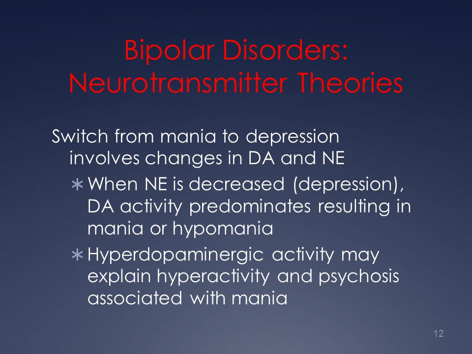 Bipolar Disorders: Neurotransmitter Theories