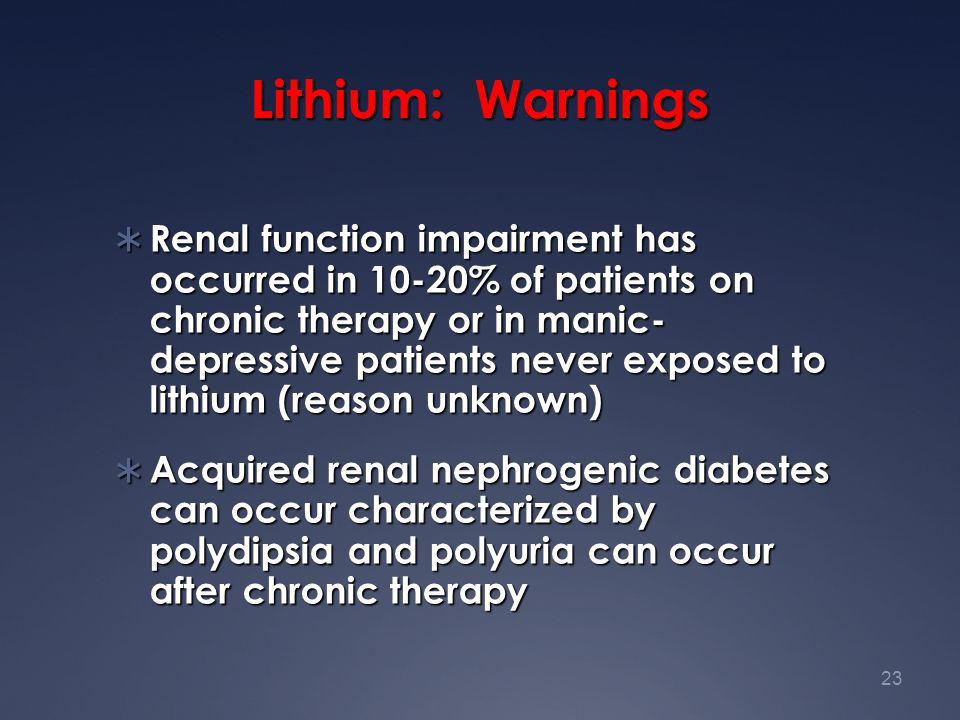 Lithium: Warnings