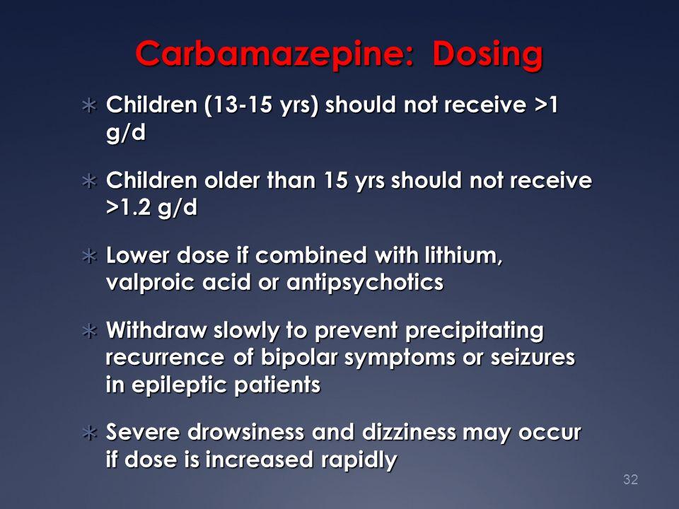 Carbamazepine: Dosing