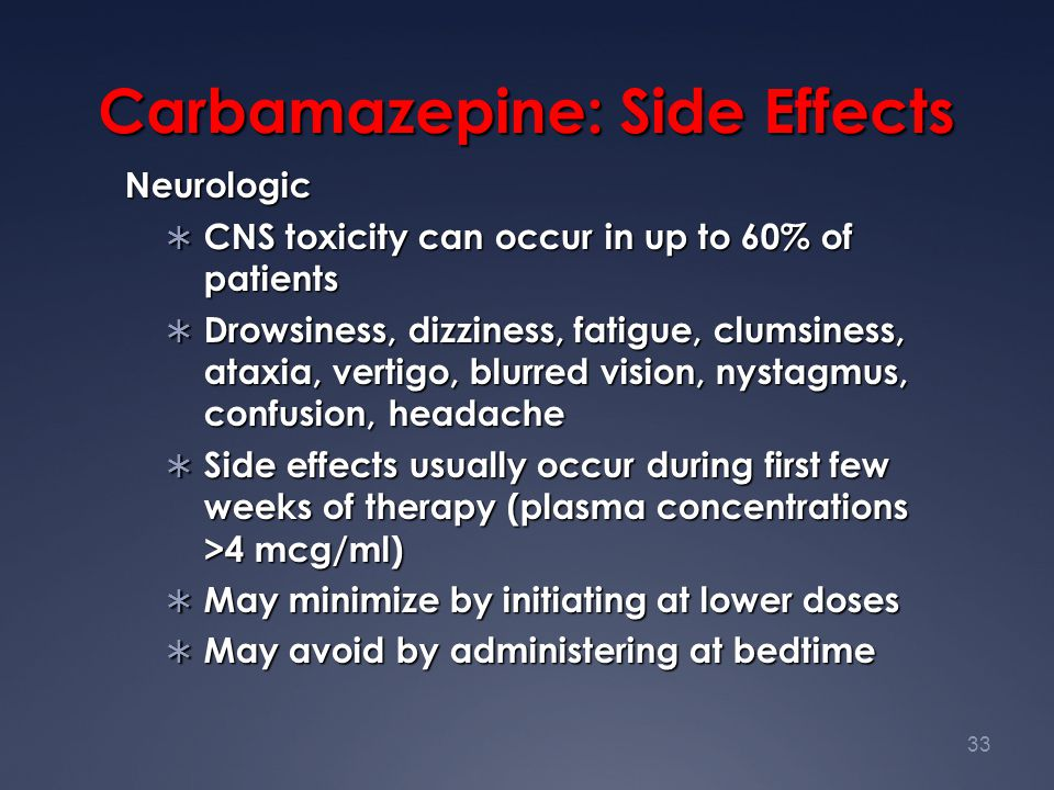 Carbamazepine: Side Effects