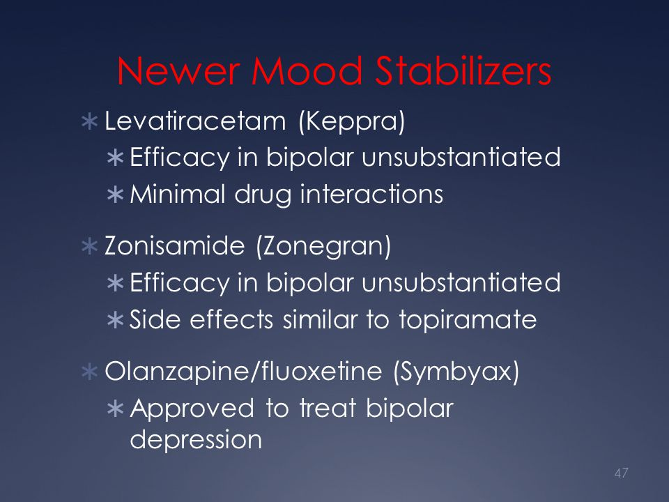 Newer Mood Stabilizers