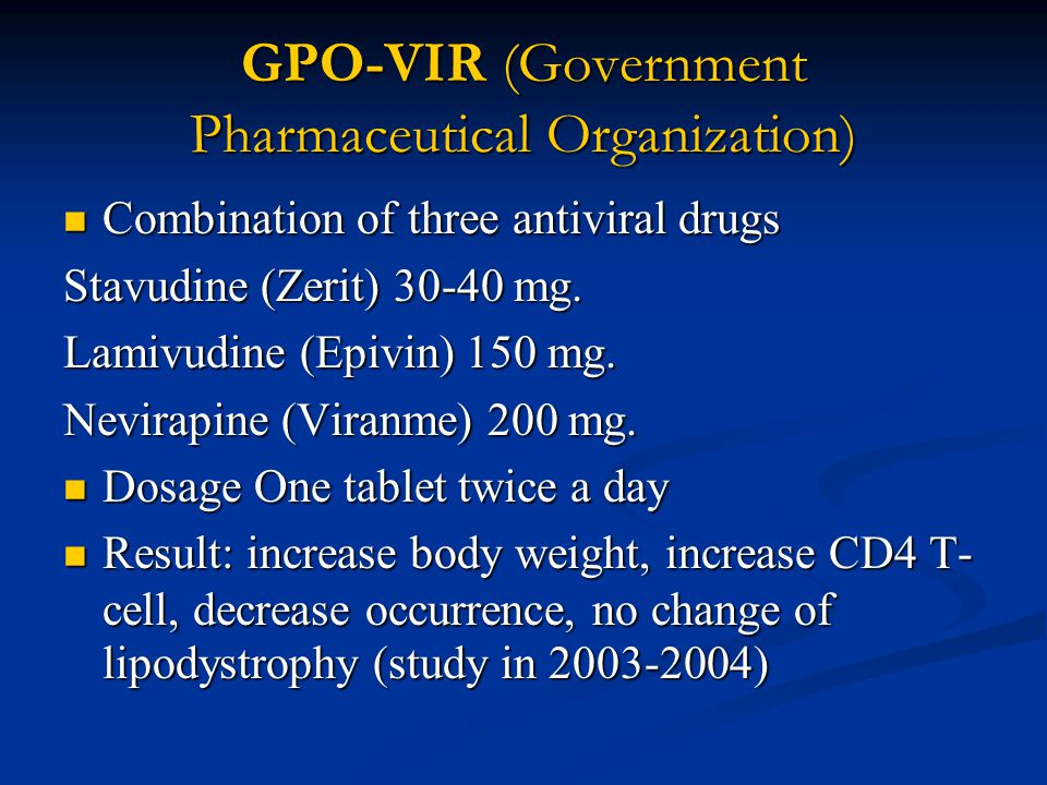 GPO-VIR (Government Pharmaceutical Organization)