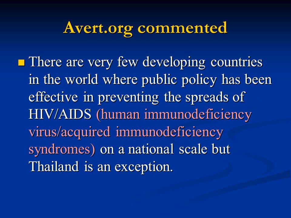 Avert.org commented