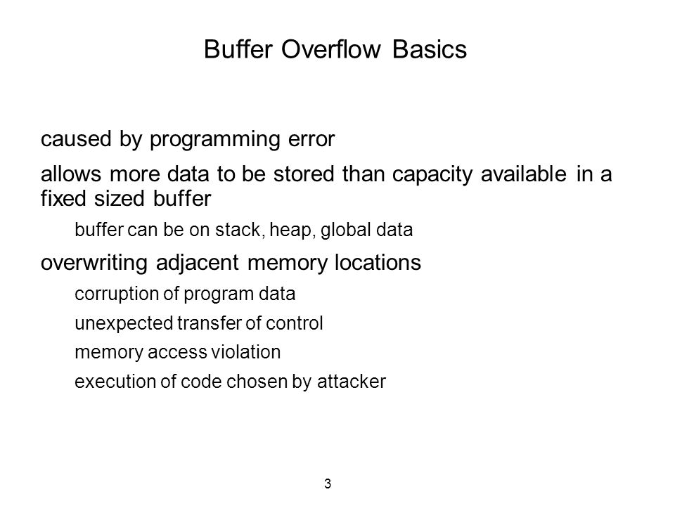 Buffer Overflow Basics