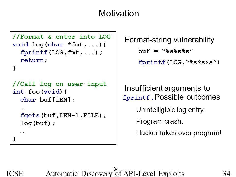 Motivation Format-string vulnerability