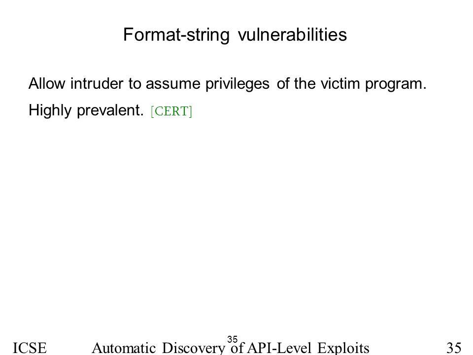 Format-string vulnerabilities