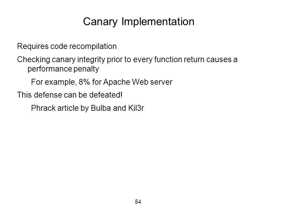 Canary Implementation