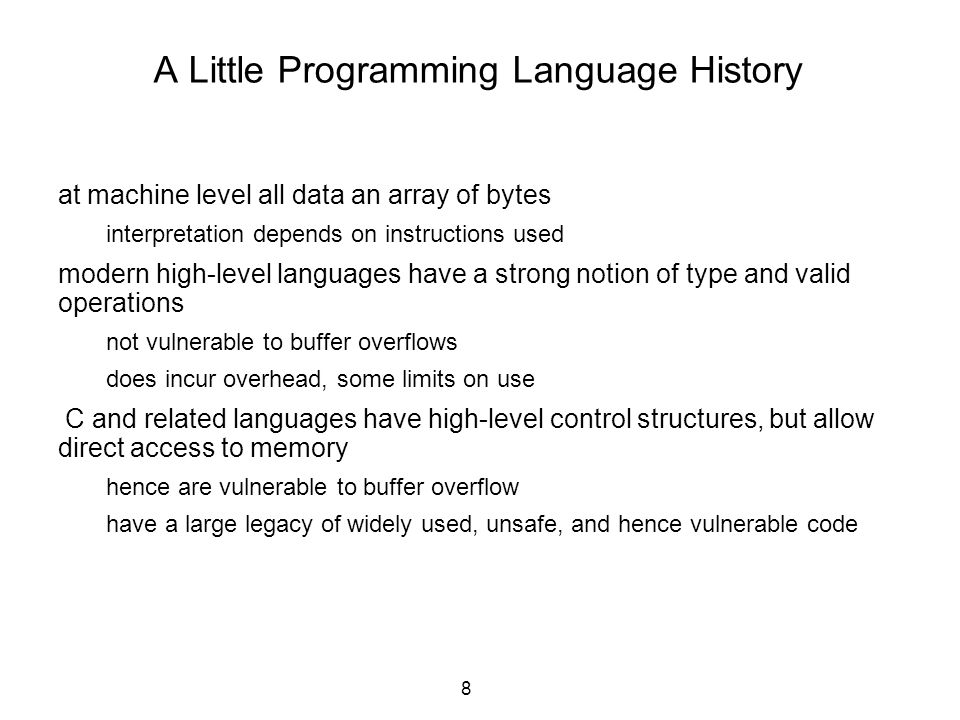 A Little Programming Language History