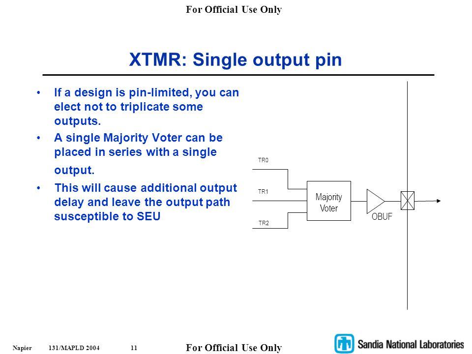 XTMR: Single output pin